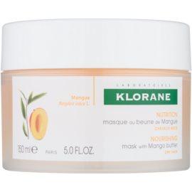 Klorane Mangue поживна маска для сухого або пошкодженого волосся  150 мл