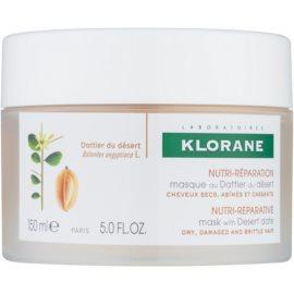 Klorane Dattier Maske mit ernährender Wirkung für brüchiges und strapaziertes Haar  150 ml