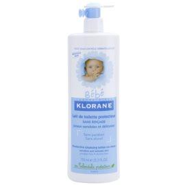 Klorane Bébé čistilno mleko brez spiranja  750 ml