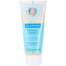 Klorane Bébé gel de espuma suave para cabelo e corpo   200 ml