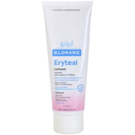 Klorane Bébé Erytéal tisztító kenőcs az irritált bőrre  200 ml