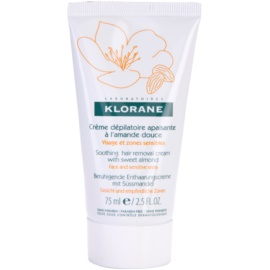 Klorane Hygiene et Soins du Corps upokojujúci depilačný krém na tvár a citlivé miesta  75 ml