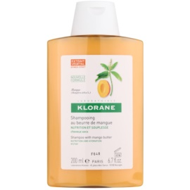 Klorane Mangue Shampoo mit ernährender Wirkung für trockenes Haar  200 ml