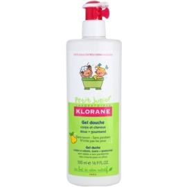 Klorane Petit Junior sprchový gél na telo a vlasy s vôňou hrušky  500 ml