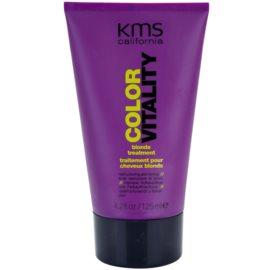 KMS California Color Vitality regenerační péče pro blond a melírované vlasy  125 ml