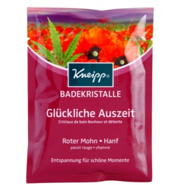 Kneipp Bath zklidňující sůl do koupele Red Poppy and Hemp 60 g