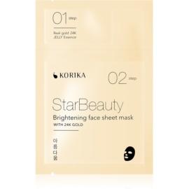 KORIKA StarBeauty revitalizacijska tekstilna maska z 24-karatnim zlatom 3 g + 25 g