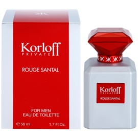 Korloff Korloff Private Rouge Santal Eau de Toilette unissexo 50 ml