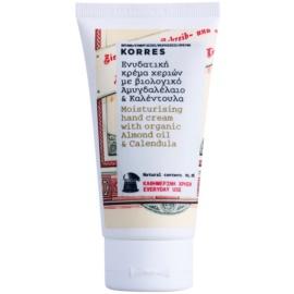 Korres Body Almond Oil & Calendula feuchtigkeitsspendende Creme für die Hände zur täglichen Anwendung  75 ml