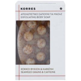 Korres Seaweed Grains & Kaffeine tuhé mýdlo s exfoliačním účinkem proti celulitidě  125 g