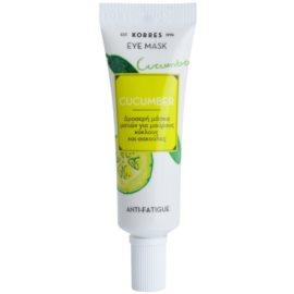 Korres Mask&Scrub Cucumber masque yeux anti-poches et anti-cernes  8 ml