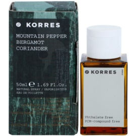 Korres Mountain Pepper (Bergamot/Coriander) Eau de Toilette para homens 50 ml