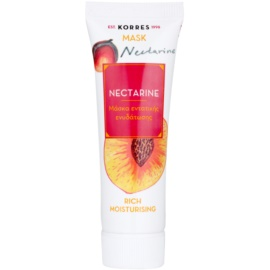 Korres Mask&Scrub Nectarine mascarilla hidratante intensiva   18 ml