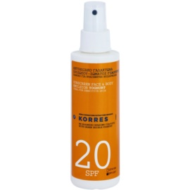 Korres Sun Care Yoghurt Emulsion For Sunbathing SPF 20  200 ml