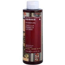 Korres Vanilla (Freesia/Lychee) sprchový gél pre ženy 250 ml