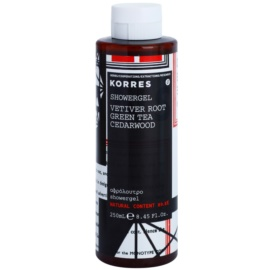 Korres Vetiver Root (Green Tea/Cedarwood) gel doccia per uomo 250 ml
