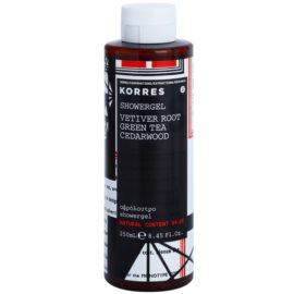 Korres Vetiver Root (Green Tea/Cedarwood) gel de dus pentru barbati 250 ml
