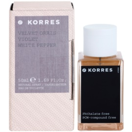 Korres Velvet Orris (Violet/White Pepper) Eau de Toilette für Damen 50 ml