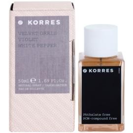 Korres Velvet Orris, Violet & White Pepper toaletní voda pro ženy 50 ml