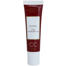 Korres Face Wild Rose crema CC con efecto luminoso  SPF 30 tono Light  30 ml