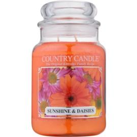 Kringle Candle Country Candle Sunshine & Daisies illatos gyertya  652 g