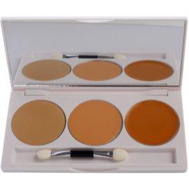 Kryolan Dermacolor Camouflage System paleta cu 3 nuante corectoare cu oglinda si aplicator culoare DC 1  10 g