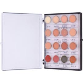 Kryolan Dermacolor Camouflage System mini paleta krémových korektorů s vysokým krytím 16 barev odstín No. 2 12 g