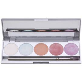 Kryolan Basic Face & Body paleta osvetljevalcev za obraz in telo 5 barv z ogledalom in aplikatorjem odtenek Instinct 9,5 g