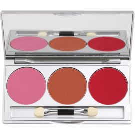 Kryolan Basic Face & Body paleta tvářenek 3 barev  7,5 g