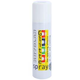 Kryolan Basic Hair Effects spray do włosów i ubrań z brokatem odcień Silver 150 ml