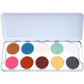 Kryolan Basic Eyes paleta očních stínů 10 barev odstín Classic 25 g