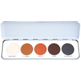 Kryolan Basic Eyes paleta očních stínů 5 barev odstín Shading/Matt 12,5 g