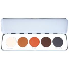 Kryolan Basic Eyes палетка тіней для повік 5 відтінків відтінок Shading/Matt 12,5 гр