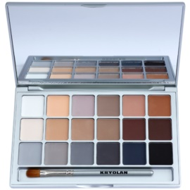 Kryolan Basic Eyes палетка тіней для повік 18 відтінків відтінок V 3 Natural 20 гр