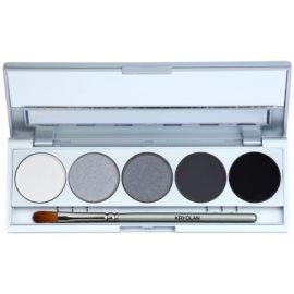 Kryolan Basic Eyes paleta očních stínů 5 barev se zrcátkem a aplikátorem odstín Berlin Matt/Iridescent 7,5 g