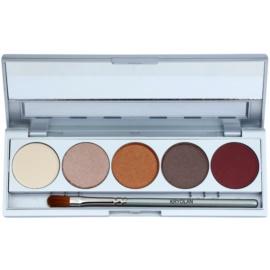 Kryolan Basic Eyes paleta očních stínů 5 barev se zrcátkem a aplikátorem odstín Casablanca Matt/Iridescent 7,5 g