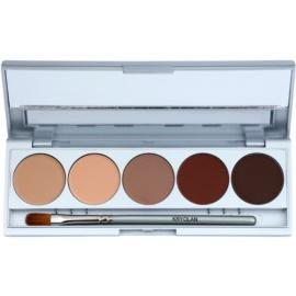 Kryolan Basic Eyes paleta očních stínů 5 barev se zrcátkem a aplikátorem odstín Muscat Matt 7,5 g