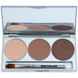 Kryolan Basic Eyes Oogschaduw Palette  met Spiegeltje en Applicator  Tint  Smokey Caramel 7,5 gr