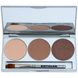 Kryolan Basic Eyes paleta očních stínů se zrcátkem a aplikátorem odstín Smokey Caramel 7,5 g