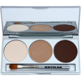 Kryolan Basic Eyes paleta očních stínů se zrcátkem a aplikátorem odstín Smokey Nude 7,5 g