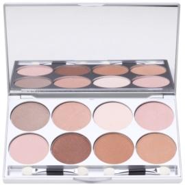 Kryolan Basic Eyes палетка тіней для повік 8 кольорів з дзеркальцем та аплікатором відтінок Essence 24 гр