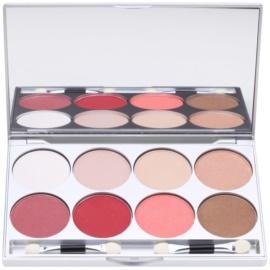 Kryolan Basic Eyes палетка тіней для повік 8 кольорів з дзеркальцем та аплікатором відтінок Indulgence 24 гр