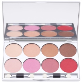 Kryolan Basic Eyes палетка тіней для повік 8 кольорів з дзеркальцем та аплікатором відтінок Posh 24 гр