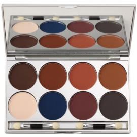 Kryolan Basic Eyes палетка тіней для повік 8 кольорів з дзеркальцем та аплікатором відтінок Shading/Matt 20 гр