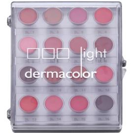 Kryolan Dermacolor Light Palette mit 16 Lippenfarben  11 g