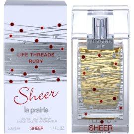 La Prairie Life Threads Sheer Ruby Eau de Toilette para mulheres 50 ml