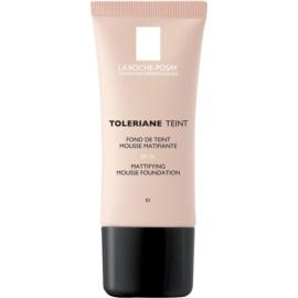 La Roche-Posay Toleriane Teint zmatňující pěnový make-up pro smíšenou a mastnou pleť odstín 01 Ivory SPF 20  30 ml