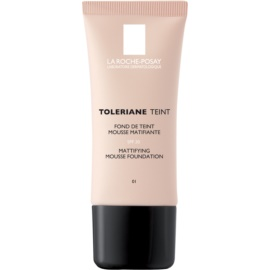 La Roche-Posay Toleriane Teint Mattifying Mousse Make - Up for Combiantion and Oily Skin Shade 01 Ivory SPF 20  30 ml