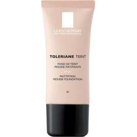 La Roche-Posay Toleriane Teint Mattifying Mousse Make - Up for Combiantion and Oily Skin Shade 02 Light Beige SPF 20  30 ml