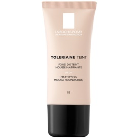 La Roche-Posay Toleriane Teint Mattifying Mousse Make - Up for Combiantion and Oily Skin Shade 03 Sand SPF 20  30 ml